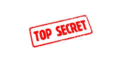 Stamp TOP SECRET (HD + Alpha) Stock Video Footage