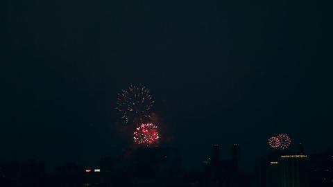 Firework, timelapse Stock Video Footage