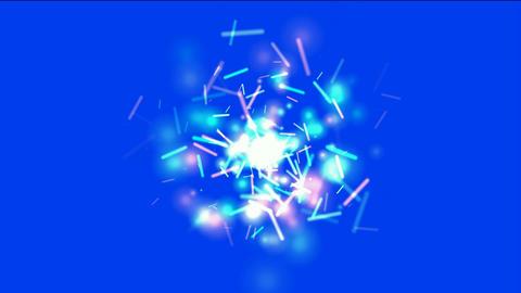 dazzling sticks & particle flying,splash molten... Stock Video Footage