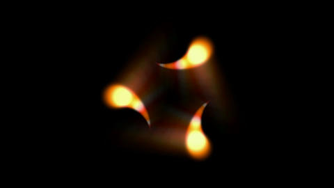 rotation dots fire,glowing underwater microbe,comma shape... Stock Video Footage