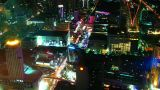 Bangkok streets at night from top view. Timelapse Footage
