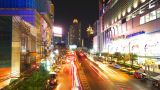 Bangkok at night. Timelapse in motion Footage