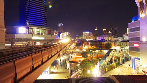 Bangkok at night. Timelapse in motion Stock Video Footage