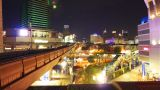 Bangkok at night. Timelapse in motion Footage