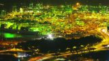 Port Of Singapore At Night stock footage