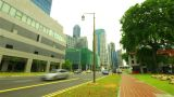 Singapore street. Timelapse in motion Footage