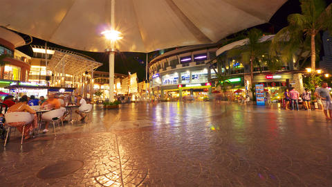 Different shopping malls with visitors Stock Video Footage