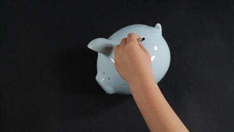 Family savings timelapse Stock Video Footage