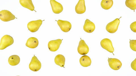 Loopable Pears rain flow with slow motion. Alpha is included Stock Video Footage