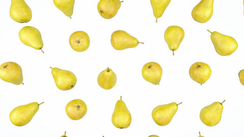Loopable Pears rain flow with slow motion. Alpha is included Animation
