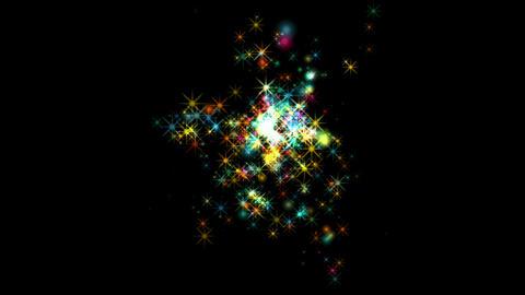 flare stars,fireworks,dazzling stars,falling... Stock Video Footage