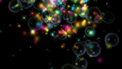 shine stars & soap bubble,fireworks,waterdrop,falling... Stock Video Footage