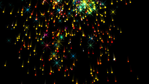 shine stars,fireworks,falling particle,festival & wedding... Stock Video Footage