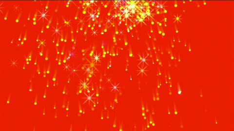flare golden stars & falling meteor,flying... Stock Video Footage