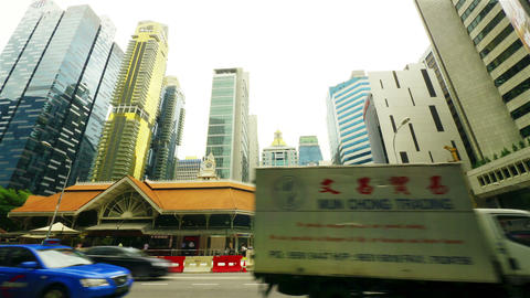Singapore streets, timelapse in motion Stock Video Footage