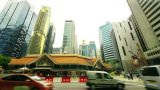 Singapore streets, timelapse in motion Footage