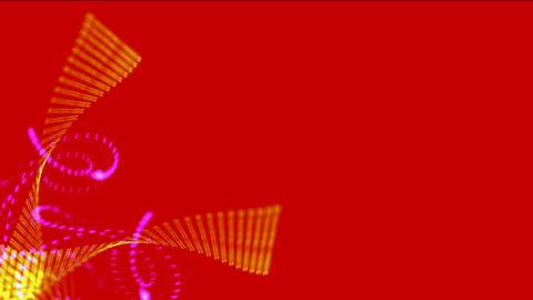 golden swirl grid & particle,splash ink & light,microbe... Stock Video Footage