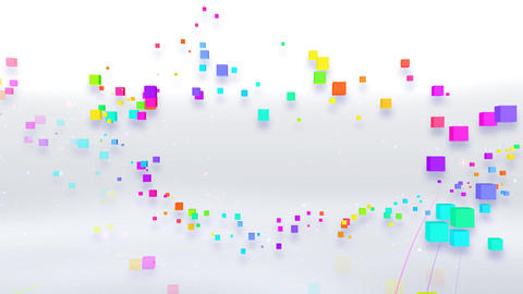 Colorful box FbD HD Animation