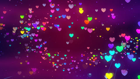 Colorful Heart FhC HD Stock Video Footage