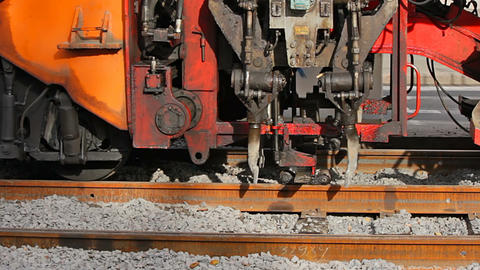 Packing of ballast Stock Video Footage