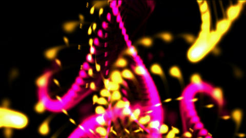 splash dots ink & particle,swirl curve,flower &... Stock Video Footage