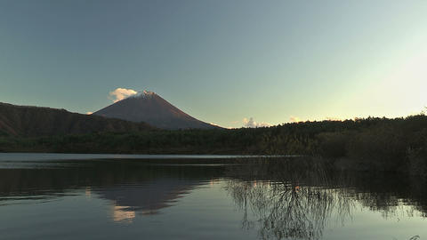 Fuji Mountain and Sai Lake,Autumn Landscape,in... Stock Video Footage