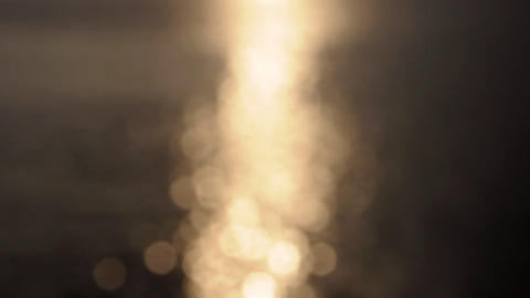sun set gold flare Stock Video Footage