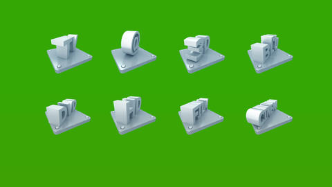 3d icon on green background Stock Video Footage