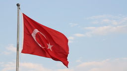 Turkish flag Stock Video Footage