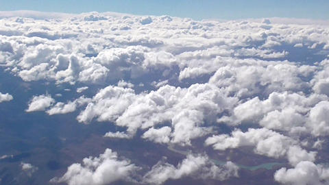 Beautiful Clouds From The Air stock footage