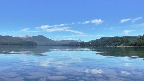 Nahuel Huapi , Patagonia Lake And Mountains stock footage