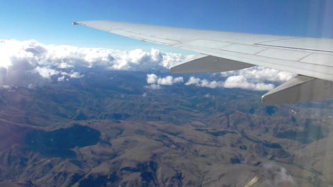 Window Airplane View stock footage