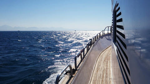 Boat Going Fast stock footage