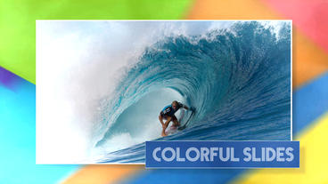 Colorful Slides - After Effects template After Effectsテンプレート