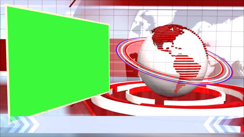 News Broadcast Background World Animation Green Screen White Line stock footage