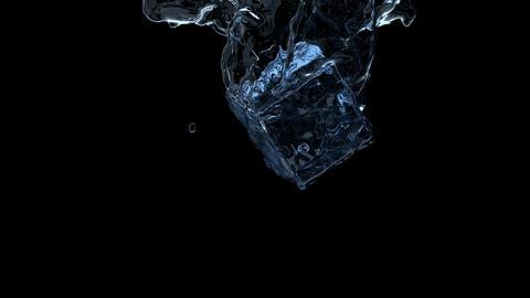 Ice cube splash Animation