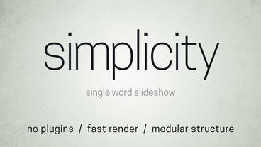 Simplicity Word Slideshow After Effects Project