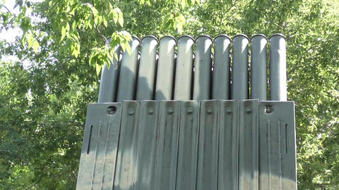 Grad rocket launcher Footage