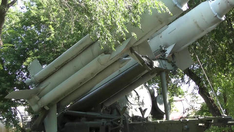 Anti-aircraft missiles Stock Video Footage