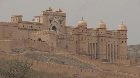 Amer Fort Jaipur India Footage