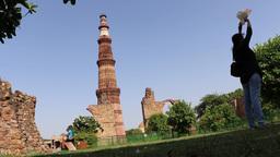 Qutub Minar, UNESCO World Heritage Site, Delhi Footage