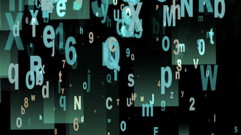 Digital Animation Of Letters And Numbers In 4K stock footage