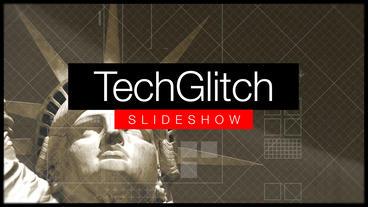 Tech Glitch Slideshow stock footage