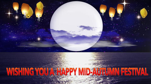 HAPPY MID AUTUMN CARD stock footage