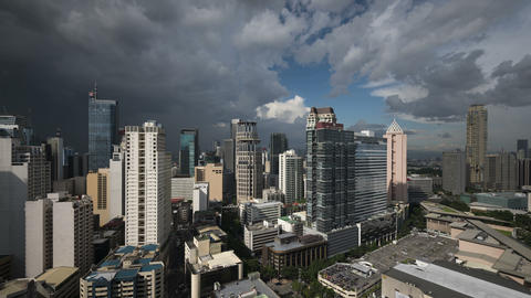 Dramatic Sky Over Makati, Metro Manila - Philippines stock footage