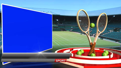 Tennis News Update Television Broadcast Sport Program Text Line Animation