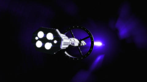 Space Ship Wormhole Flight Animation