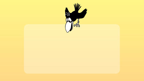 Bird Flies and Sits on Poster 3.1 Animation