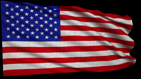 flag USA still GIGANT 4k loop all frame alfa Animation