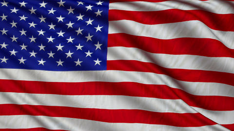 flag USA still GIGANT 4k loop Animation